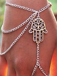 Women's Flowers Lace Hand Chain Ring Bracelet