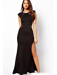 Juanmei neuen 2014 reizvolle hohle Slim Fit Kleid mit Schlitz