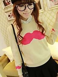 Women's Cute Mustache Pattern Knit Sweaters