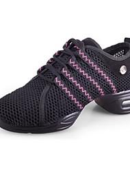 Chaussures de danse ( Rouge ) - Non personnalisable - Gros talon - Similicuir - Sneakers de dance