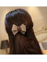 beaux cheveux de bowknot en cuir lie cercle de couleur de cheveux aléatoire