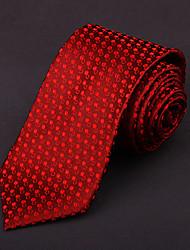 gravata de seda vermelha