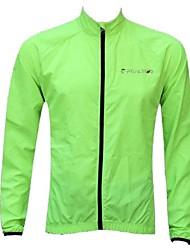 Realtoo® Unisex  Breathable Anti UV Waterproof Summer Fluorescence Green Long Sleeve Cycling Jackets