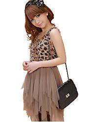 dos piezas como el vestido del vestido de bola de leopardo sleevless