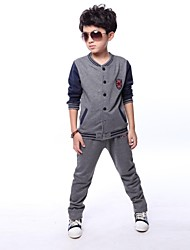 Boy's Cotton Blend Clothing Set,Winter / Spring / Fall Solid
