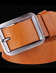QMei Man's Fashion Genuine Leather Pin Buckle Belts-QM0003Y3 (Screen Color)