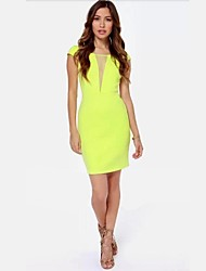 QUEEN™Women's Neon Colour Lace Strapless Dresses
