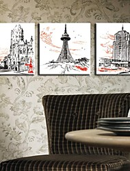 Personalized Canvas Print Cityscape 30x30cm  40x40cm  60x60cm  Gallery Wrapped Art Set of 3