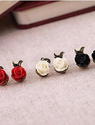 Retro Rose Asymmetrical Earrings(More Colors)