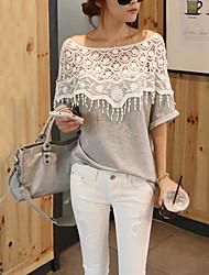 sw sexy crochet media longitud de la manga camiseta