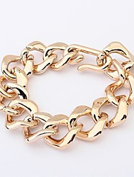plaqué or de style européen bracelet joker simples