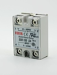 fotek 24v-380v 250v 100 ssr-100da módulo de relé de estado sólido 3-32V dc a ac
