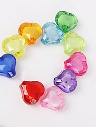 10pcs Colorful Heart Beads