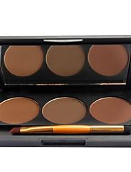 3 Colors  Eyeshadow Eyebrow-powder Combination Suit