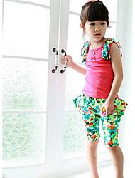 Девушки жилет Спорт Развлечения Окрашенные Дизайн-одежда наборы