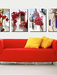 Toiles Tendues art paysage riches décorations multicolores ensemble de 4