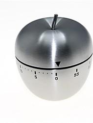 яблоко формы из нержавеющей стали механические поворот таймер (60-минут)