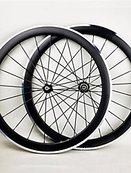Kayote 700c 50mm pneu aluminium surface de freinage de roues de carbone