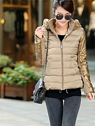 Women's Hooded Splicing Short Down Jacket