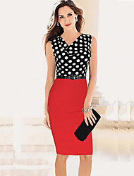 Monta Spot Matching Knit Dress With Belt