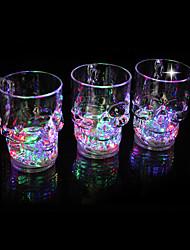 "4.8 ""h les brillants verres de forme de crâne"