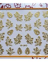 qualidade 3d de flores e unhas padrões deixados adesivos de arte para unhas salão profissional