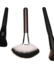 3pcs establece pincel de maquillaje profesional