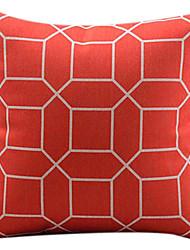 treliça de algodão vermelho / linho fronha decorativo