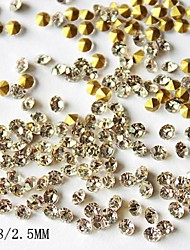 1440PCS 2.5MM Glitter Rhinestone Nail Art Decorations