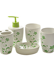 5 Piece Bath Collection Set Ceramic Material,Bath Ensemble,Bath Accessory Set