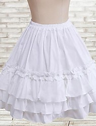 Short Length White Cotton Classic Lolita Skirt