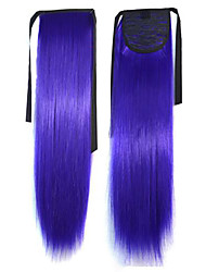 De calidad superior vendedor caliente Peny Clips del color del pelo de la cola de colores Bar Wholesale Purple Hair Extension Popular 20 pulgadas