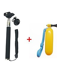 Gopro Handheld Monopod Tripod Mobile phone Monopod +Tripod Mount Adapter + Yellow Floating Handheld MonoPod