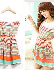 Women's fashion stripe dress (stripes and color random)