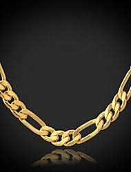 U7 High Quality 18K Chunky Gold Filled Figaro Chain or 4MM,22 Inches 55CM