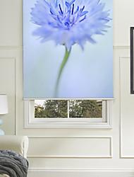 Botanic Style Blue Flower Ⅱ Roller Shade