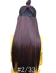 Hot Selling  Clips  Colour  Colorful  Dark Broen   Bar  Wholesale  Hair Extension  Girl