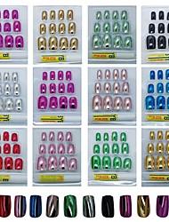 144PCS 12 Colors French Manicure Nail Tip & 5Pcs Nail File&1Pcs Glue Set