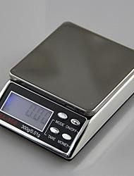 elektronische keukenweegschaal rvs 100g / 0.1g, roestvrijstalen 10.5x7.2x2.8cm
