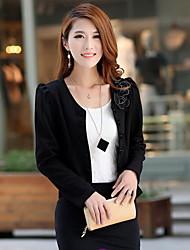 Songyi Korean Style Bodycon Double Breast Short Pattern Suit Blazer