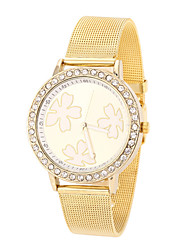 ToMoNo Alloy Mesh Women Dress Watch(Gold)