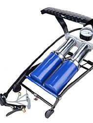 INBIKE Double Tube Steel Blue High Pressure Portable Bike Foot Pump