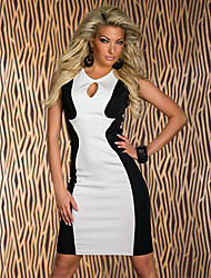 d&sexy Farbe blcoking Nachtclub Kleid h mit Tanga Unterwäsche