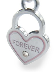 Heart Design Tag Accessory for Collars for Pets Dogs