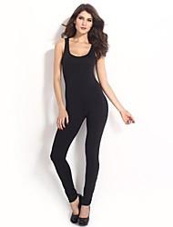 Women's Black Jumpsuits , Sexy Sleeveless