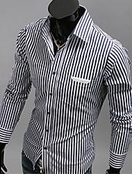 INMUR Ledernaht Stripes Langarm-Shirt