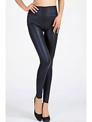 Women Metallic Legging , Polyester/Spandex