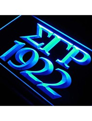 Greek Word SIGMA GAMMA RHO 1922 Display Neon Light Sign