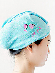 Hairdressing Tool Cartoon Plus Size Thickening Nano Fiber Magic Super Absorbent Dry Hair Hat Shower Cap