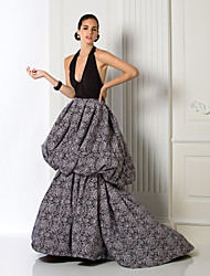 TS Couture® Formal Evening Dress - Elegant / Vintage Inspired Plus Size / Petite A-line Halter Court Train Chiffon / Jersey with Pick Up Skirt